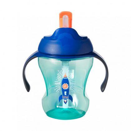 Tommee Tippee EXPLORA easy drink szívószálas 230ml 6hó (kék-zöld)