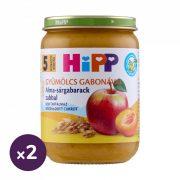 Hipp BIO alma-sárgabarack zabbal, 5 hó+ (2x190 g)