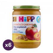 Hipp BIO alma-sárgabarack zabbal, 5 hó+ (6x190 g)