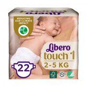 Libero Touch pelenka, Újszülött 1, 2-5 kg, 22 db