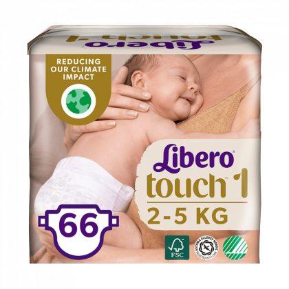 Libero Touch pelenka, Újszülött 1, 2-5 kg, HAVI PELENKACSOMAG 3x22 db