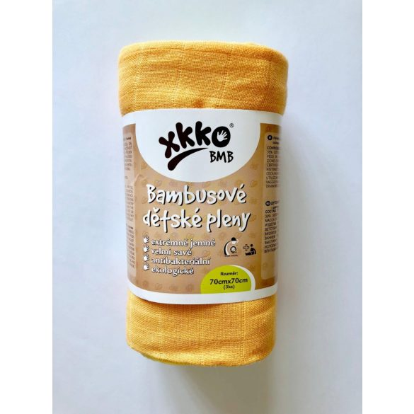 Xkko bambuszpelenka - színes (3 db)