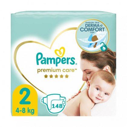 Pampers Premium Care pelenka, Mini 2, 4-8 kg, 148 db