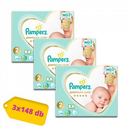 Pampers Premium Care pelenka, Mini 2, 4-8 kg, 2+1, 444 db