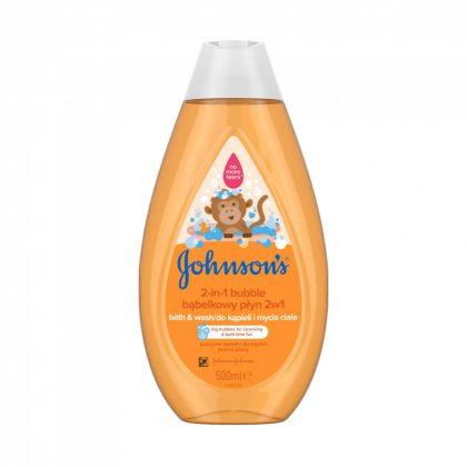 Johnson's barackos-buborékos babafürdető, 500 ml