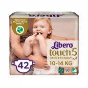 Libero Touch pelenka, Maxi+ 5, 10-14 kg, 42 db