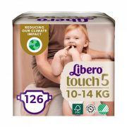 Libero Touch pelenka, Maxi+ 5, 10-14 kg, HAVI PELENKACSOMAG 3x42 db