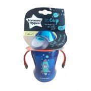 Tommee Tippee Közelebb a természeteshez Easy drink cup csőrös itatópohár fogókarral 6 hó+ 230 ml (kék)