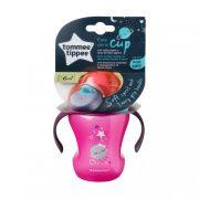 Tommee Tippee Közelebb a természeteshez Easy drink cup csőrös itatópohár fogókarral 6 hó+ 230 ml (rózsaszín)