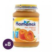 Hamánek bébidesszert alma-sárgabarack, 4 hó+ (8x190 g)