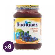 Hamánek bébidesszert alma-áfonya, 4 hó+ (8x190 g)