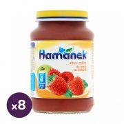 Hamánek bébidesszert alma-málna, 4 hó+ (8x190 g)
