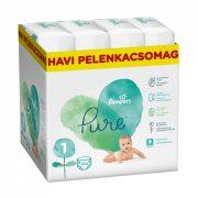 Pampers Pure Protection pelenka, Újszülött 1, 2-5 kg HAVI PELENKACSOMAG 204 db