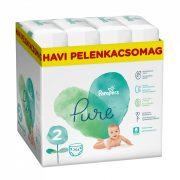 Pampers Pure Protection pelenka, Mini 2, 4-8 kg, HAVI PELENKACSOMAG 264 db