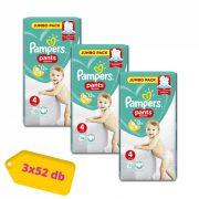 Pampers Pants bugyipelenka, Maxi 4, 9-15 kg, 2+1, 156 db