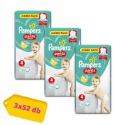 Pampers Pants bugyipelenka, Maxi 4, 9-15 kg, 2+1, 156 db