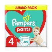 Pampers Pants bugyipelenka, Maxi 4, 9-15 kg HAVI PELENKACSOMAG 4x52 db