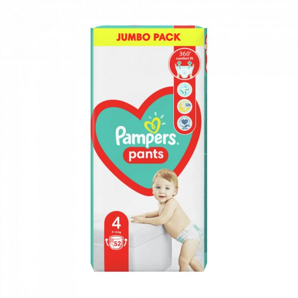 Pampers Pants bugyipelenka, Maxi 4, 9-15 kg, 52 db-os
