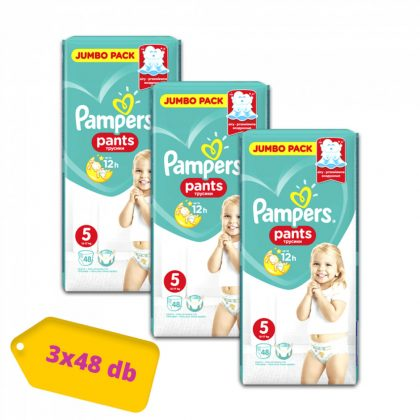 Pampers Pants bugyipelenka, Junior 5, 12-17 kg, 2+1, 144 db
