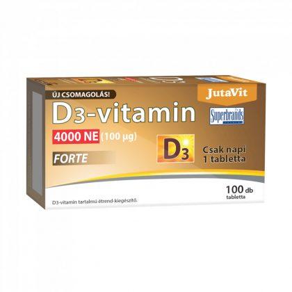 Jutavit D3-vitamin forte tabletta 4000 NE (100 db)