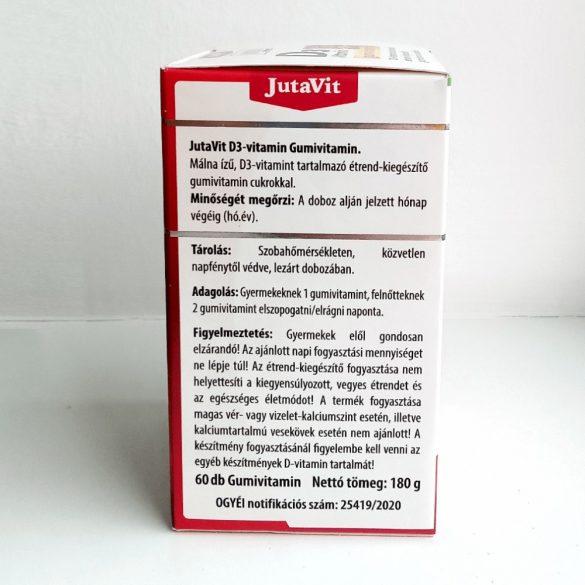 Jutavit D3 gumivitamin - málna (60 db)