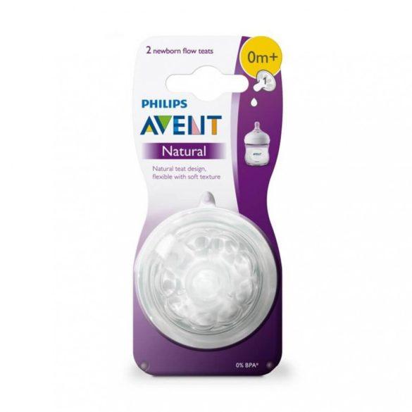 Avent SCF041/27 Natural újszülött etetőcumi 0 hó+ (2 db)