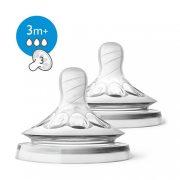 Philips Avent SCF043/27 Natural közepes átfolyású etetőcumi 3 hó+ (2 db)