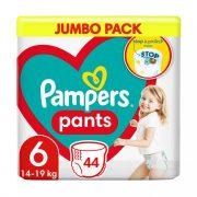 Pampers Pants bugyipelenka, Extra Large 6, 16 kg-tól, 44 db-os
