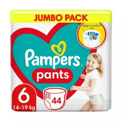 Pampers Pants bugyipelenka, Extra Large 6, 15 kg-tól, 44 db-os