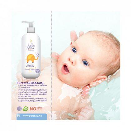 Hello Baby Fürdetőolaj és babaolaj 250 ml (0+)