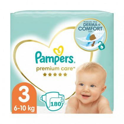 Pampers Premium Care pelenka, Midi 3, 6-10 kg, 2+1, 180 db