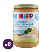 Hipp BIO tészta tengeri hallal és brokkolival, 10 hó+ (6x220 g)