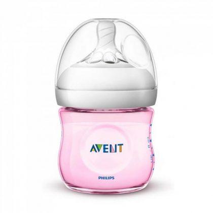 Avent SCF031/17 Natural cumisüveg 125 ml (rózsaszín)