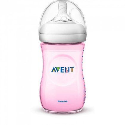 Avent SCF034/17 Natural cumisüveg 260 ml (rózsaszín)