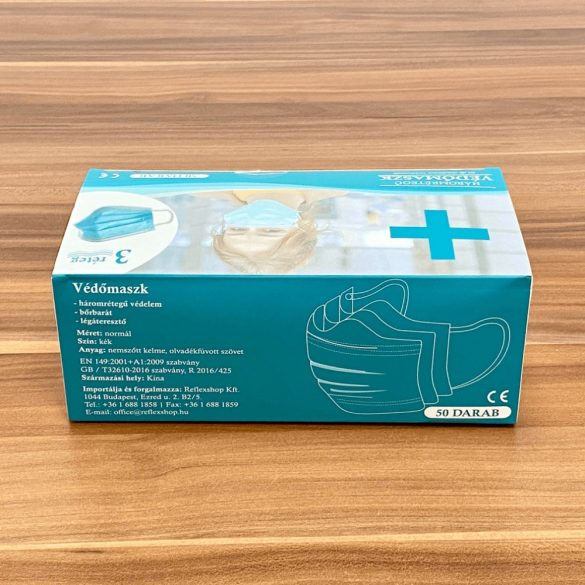 3 rétegű higiéniai arcmaszk-szájmaszk (50 db/csomag)