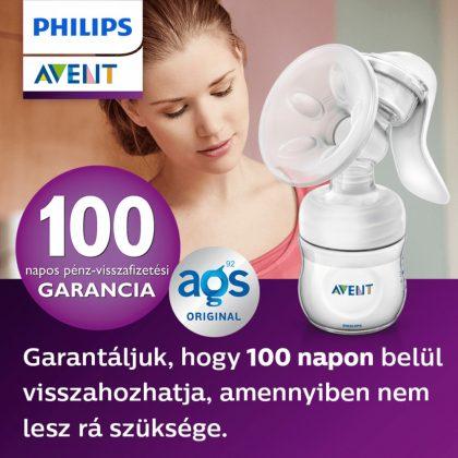 Avent SCF330/13 Natural kézi mellszívó 3 db VIA pohárral