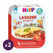 Hipp BIO bolognai lasagne, 12 hó+ (2x250 g) - tálcás menü