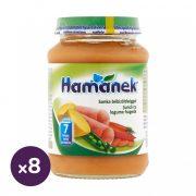 Hamánek bébiétel sonka bébizöldséggel, 7 hó+ (8x190 g)