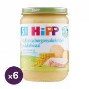 Hipp BIO kukorica burgonyakrémben pulykahússal, 5 hó+ (6x190 g)