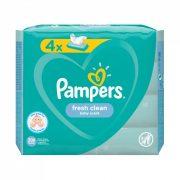 Pampers Fresh Clean nedves törlőkendő 4x52 db