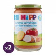 Hipp BIO burgonya csirkehússal paradicsommártásban, 8 hó+ (2x220 g)
