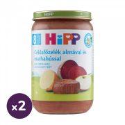 Hipp BIO céklafőzelék almával és marhahússal, 8 hó+ (2x220 g)