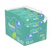 Pampers Fresh Clean nedves törlőkendő 12x52 db
