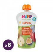 Hipp HiPPiS BIO gyümölcspép mangó-maracuja almás körtében, 12 hó+ (6x100 g)