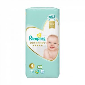 Pampers Premium Care pelenka, Maxi 4, 8-14 kg, 52 db-os