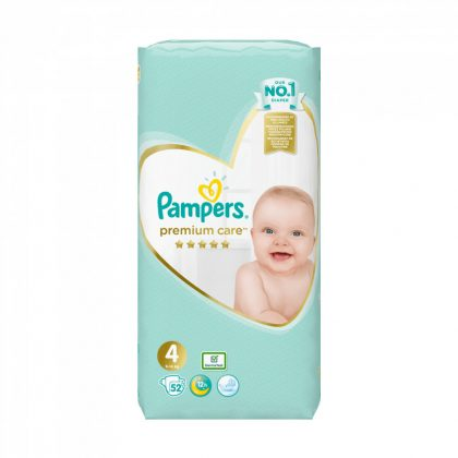 Pampers Premium Care pelenka, Maxi 4, 9-14 kg, 52 db-os