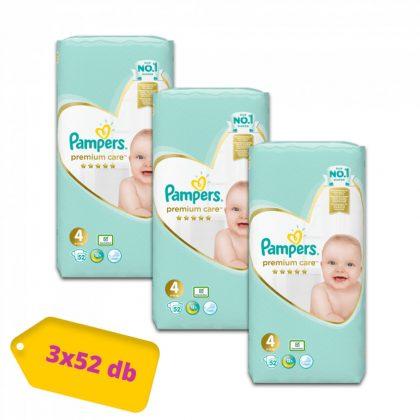 Pampers Premium Care pelenka, Maxi 4, 9-14 kg, 2+1, 156 db