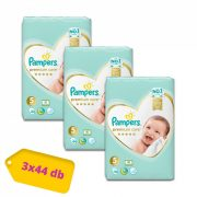 Pampers Premium Care Junior 5, 11-18 kg 2+1, 132 db