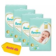 Pampers Premium Care Junior 5, 11-16 kg HAVI PELENKACSOMAG 4x44 db