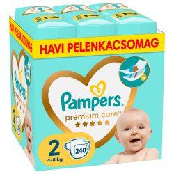 Pampers Premium Care Mini 2, 3-6 kg HAVI PELENKACSOMAG 240 db